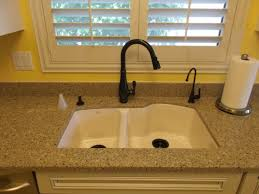 Kitchen Sinks And Faucets by Furniture Cozy Corian Countertops With Kitchen Sink Faucet For
