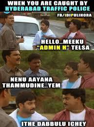 Funny Hyderabadi Memes - who is admin h meet the man tickling the internet on hyd traffic