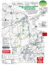 Wisconsin Railroad Map by Atv Trails U2013 Iron County Economic Development