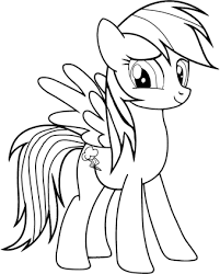 pony rainbow dash coloring pages printable coloring