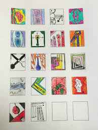 visual communication cubism thumbnail art assignment