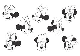 minnie mouse black white logo vector format cdr ai eps svg