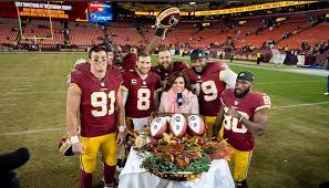 redskins survive a turkey of a thanksgiving beat giants 20