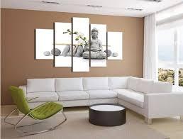 chambre de d馗ompression 5 panneaux hd imprimé blanc bouddha peinture impression sur
