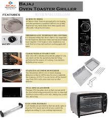 Easy Clean Toaster Best Bajaj Oven Toaster Griller In India 2017 U2013 Reviewsellers