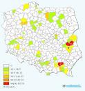 mapa polski jeziora