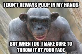 Hairless Bear Meme - i don t always poop in my hands but when i do i make sure to