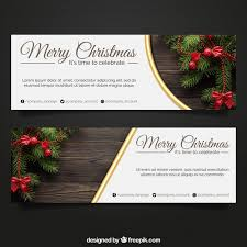 banners with photo elements for christmas vector free download