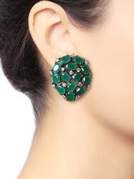 stud earrings online stud earrings buy gold ear studs stud earrings online at jivaana