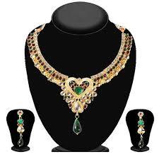 purple stone necklace set images Necklaces jpg