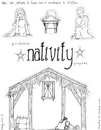 jesus in the manger coloring pages nativity playset craft and free