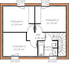 plan maison etage 3 chambres programmes de maisons à contruire en loire atlantique