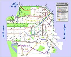 Portland Bike Map by A Wonderfully Simplified Map Of San Francisco U0027s Bicycle