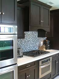 teal blue backsplash tile floor decoration blue backsplash tile for kitchen kitchen crafters kitchen with rich brown cabinetry and mosaic tile backsplash hgtv