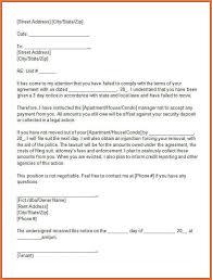 eviction letter bio letter sample