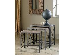 Klaussner Distinctions Ashley Signature Design Vennilux Set Of 3 Rustic Metal Wood