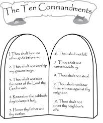 best solutions of ten commandments coloring pages with additional