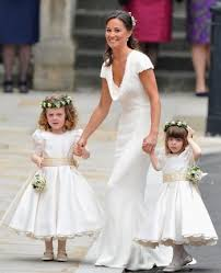 flower girl accessories pippa with the flower of the royal wedding white