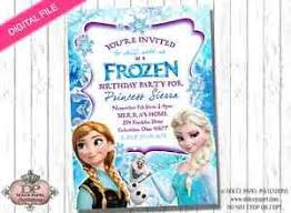 digital file frozen birthday party invitation elsa anna u0026 olaf