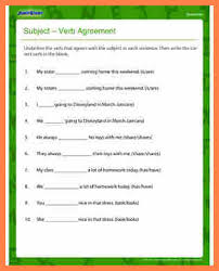 7 subject verb agreement worksheets grade 6 purchase agreement