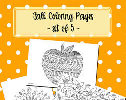 thanksgiving coloring pages set of 5