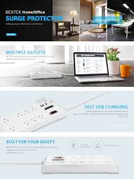 belkin pivot wall mount surge protector with 6 outlets amazon com bestek 8 outlet surge protector power strip with 4 usb