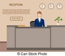 Front Desk Manager Hotel Vector Clip Art Of Hotel Front Desk Manager An Image Of A Hotel