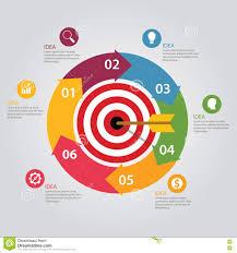 Dart Map Business Target Infographic Dart Board Arrow Concept Of Goals