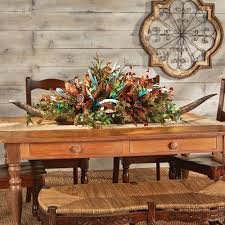 western star home decor double longhorn floral arrangement