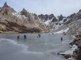 skiing not your thing go skating at lake gutierrez bariloche