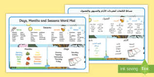 arabic days of the week primary resources translated page 1