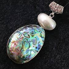 necklace making charms images Hot sale natural abalone pearl large big oval pendant charms chain jpg
