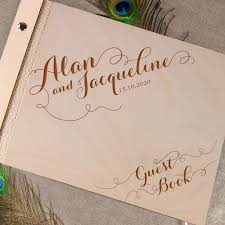 engravable wedding guest book beautiful wedding guest book rustic guestbook laser engraved