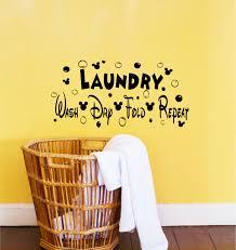 Laundry Room Decor Accessories by Disney Decor Disney Decals Laundry Room Decor Wash Dry Fold