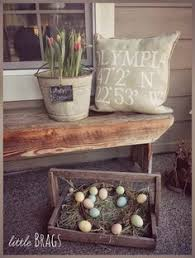 Outside Easter Decor Flower Arrangements In Old Galvinite Buckets Like This Old
