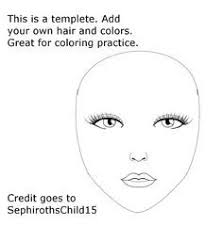 printable blank faces 2 face paint