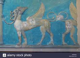 ancient greek fresco of flying horse in the minoan iraklion museum