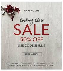 sur la table promo sur la table final hours cooking class sale milled