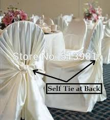 White Universal Chair Covers Buy Universal Satin Chair Covers And Get Free Shipping On