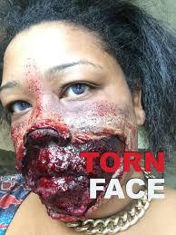 torn face halloween makeup tynisha the atlanta makeup artist