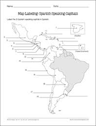spanish speaking countries and capitals maps and quiz by spanish