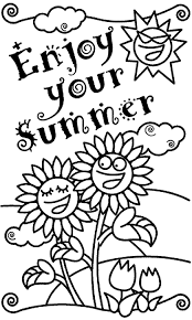 happy summer coloring pages free large images summer