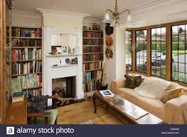 arts and crafts home interiors house interiors small snug with bookshelves of self built house