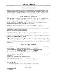resume for secretary receptionist chronological resume medical