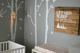 Wall Mural White Birch Trees Baby Nursery Enchanting Wood Land Baby Nursery Design And