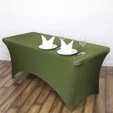 spandex table cover 6 ft rectangular stretch spandex tablecloth willow green