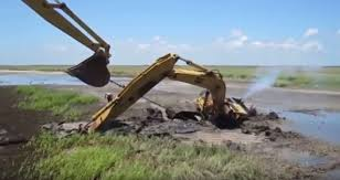 oops u2026massive muddy mishaps with big diggers battle building