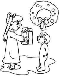 to draw presents clipart for christmas cards for kids