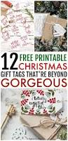 12 free printable christmas gift tags that are beyond gorgeous