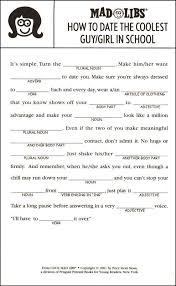 13 best mad libs printables images on pinterest funny mad libs